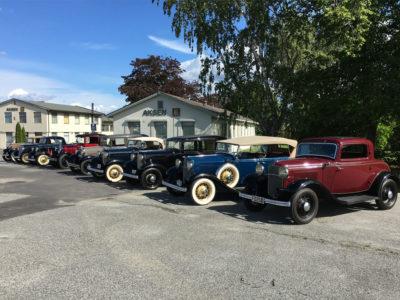 Stort utvalg av veteranbiler