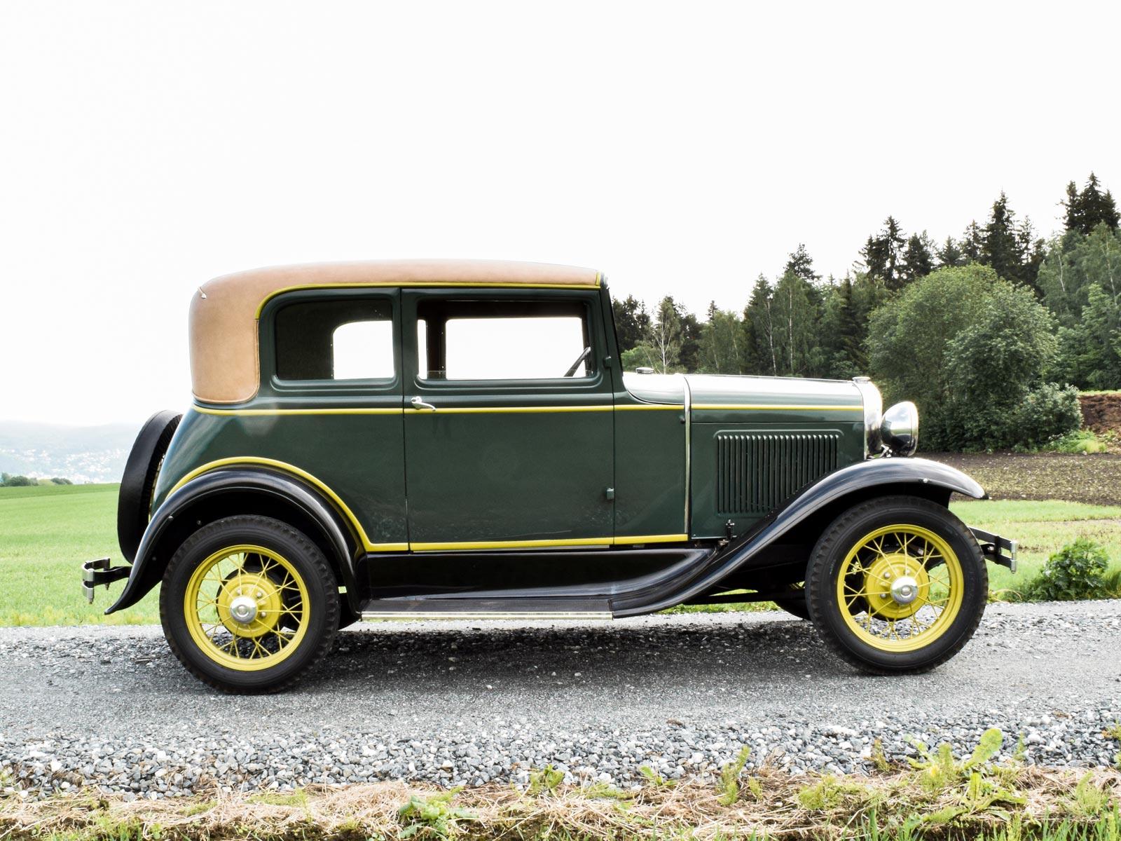 Ford A Victoria Coupe 1931 modell. Se vårt utvalg av biler