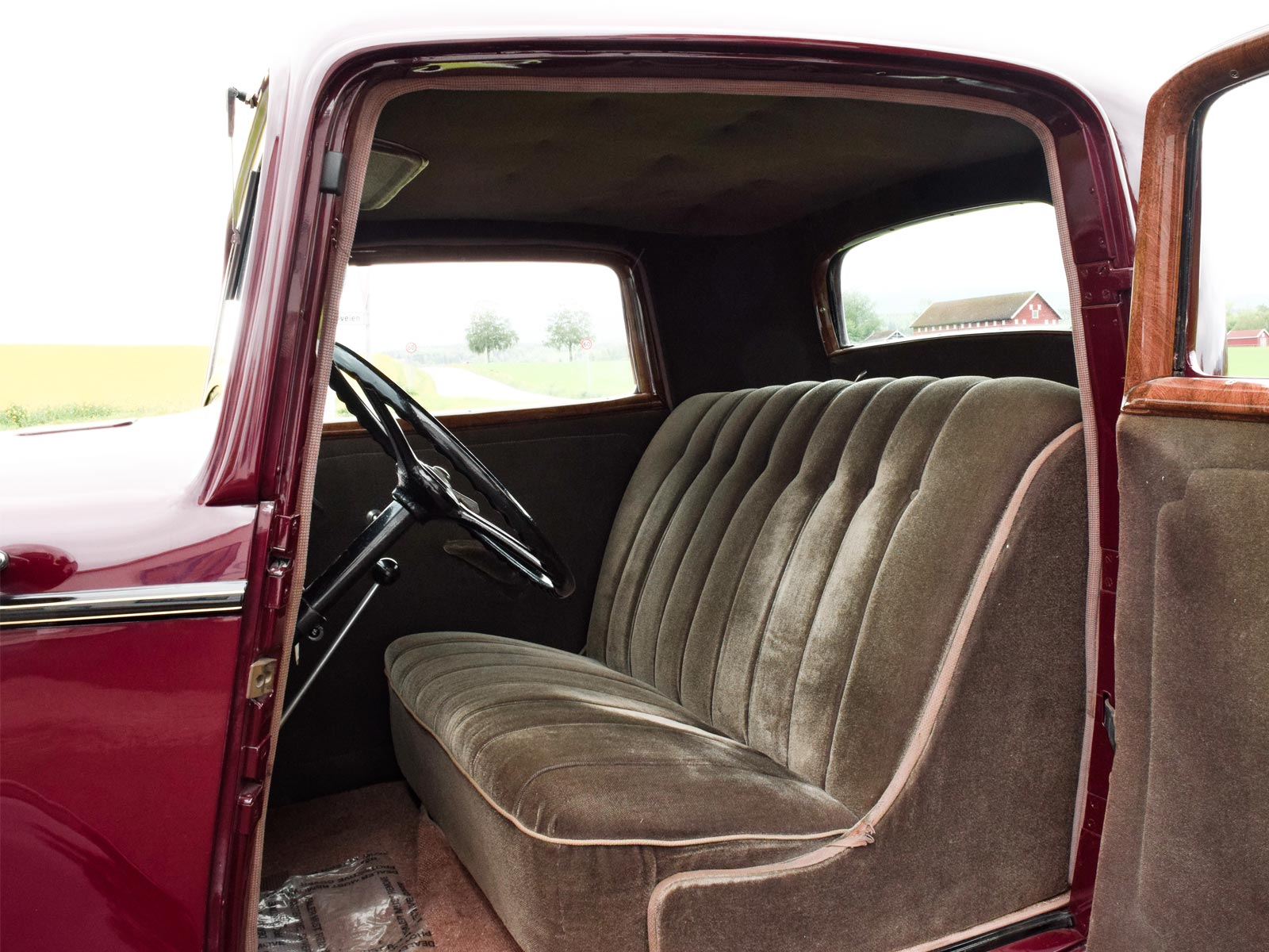 Interiør Ford B Coupe 1932 modell.