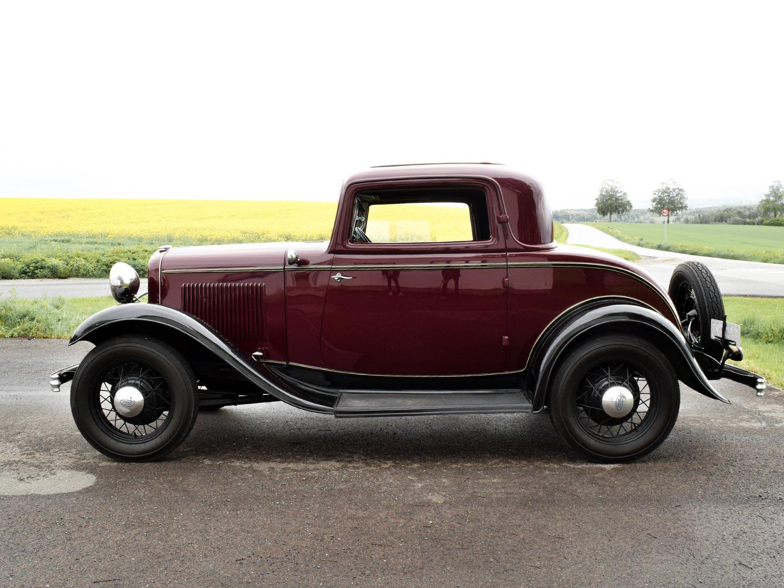Ford B Coupe 1932 modell. Se vårt utvalg av biler.