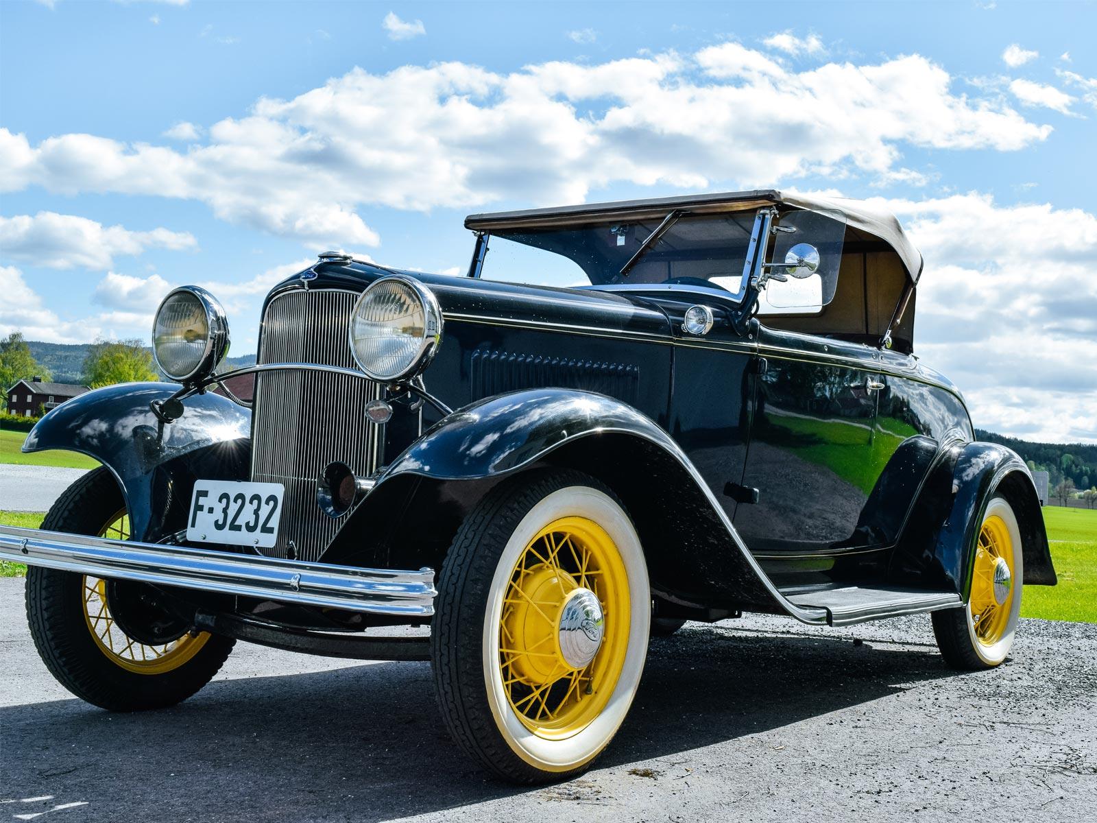 Ford B Roadster 1932 modell. Se vårt utvalg av biler.