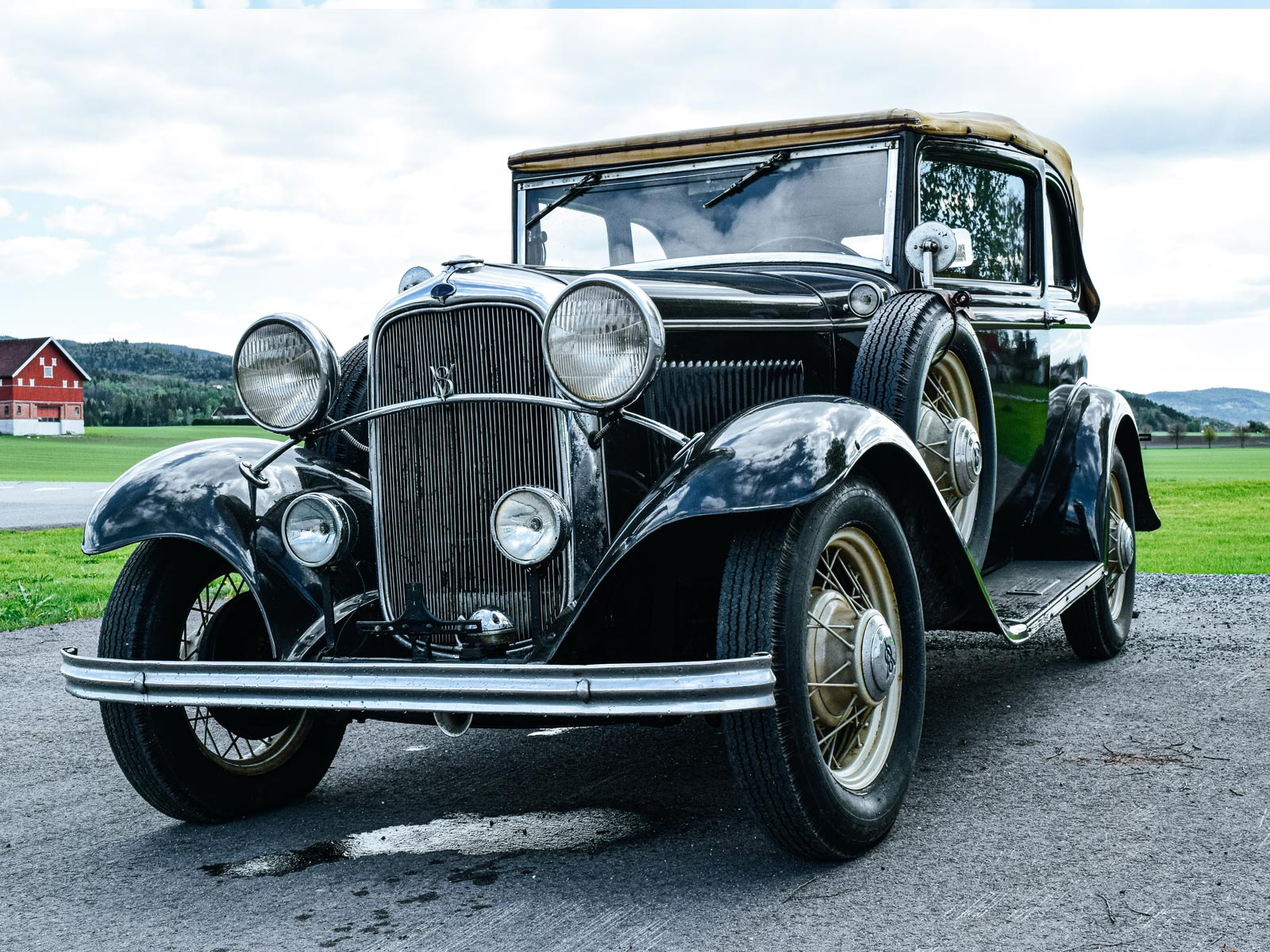 Ford B V8 Convertible 1932 modell.
