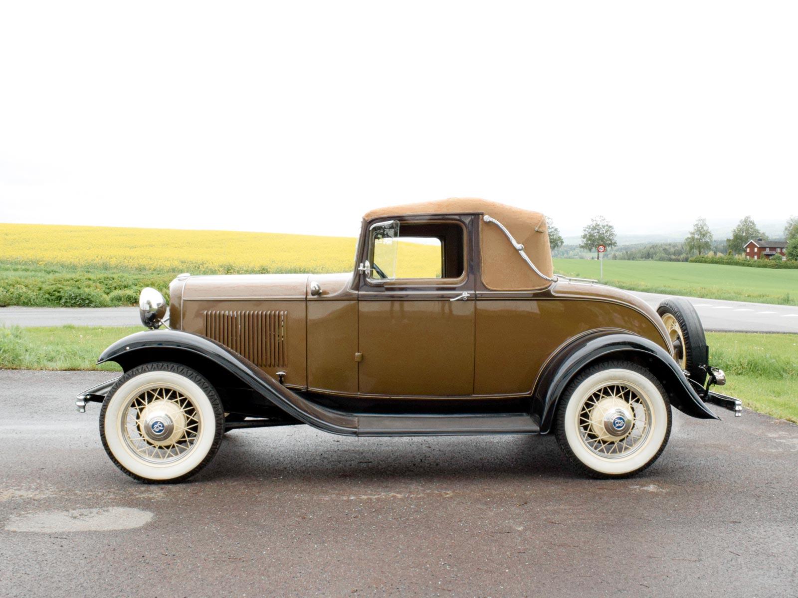 Ford B Sport Coupe 1932 modell. Se vårt utvalg av biler.